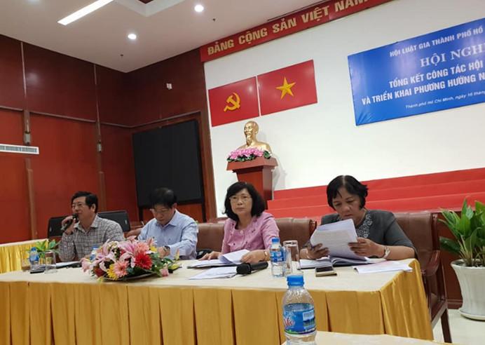 Hội nghị Tổng kết công tác năm 2018 & Triển khai nhiệm vụ năm 2019 Hội Luật gia TP Hồ Chí Minh.