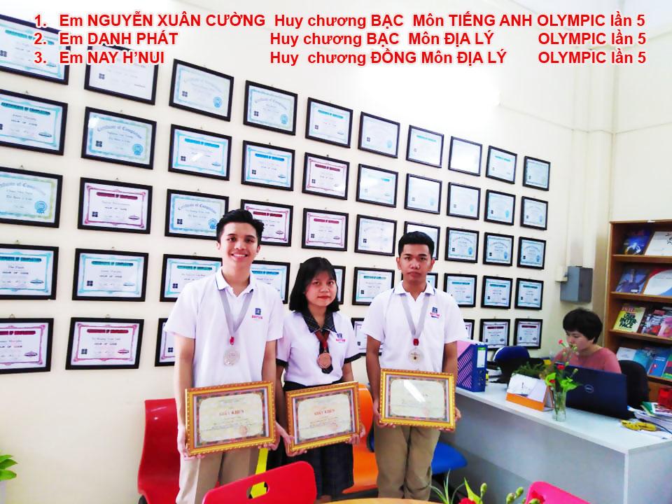 Học sinh Trường THCS, THPT Duy Tân với các thành tích trong kỳ thi OLYMPIC lần 5 năm học 2018-2019