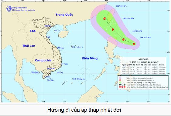 Áp thấp nhiệt đới gần Biển Đông có thể mạnh lên thành bão