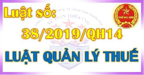 Giới thiệu Luật Quản lý thuế số 38/2019/QH14