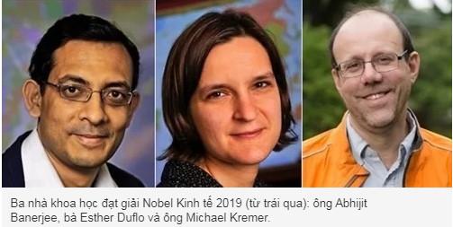 Nghiên cứu về giảm nghèo đoạt Nobel Kinh tế 2019