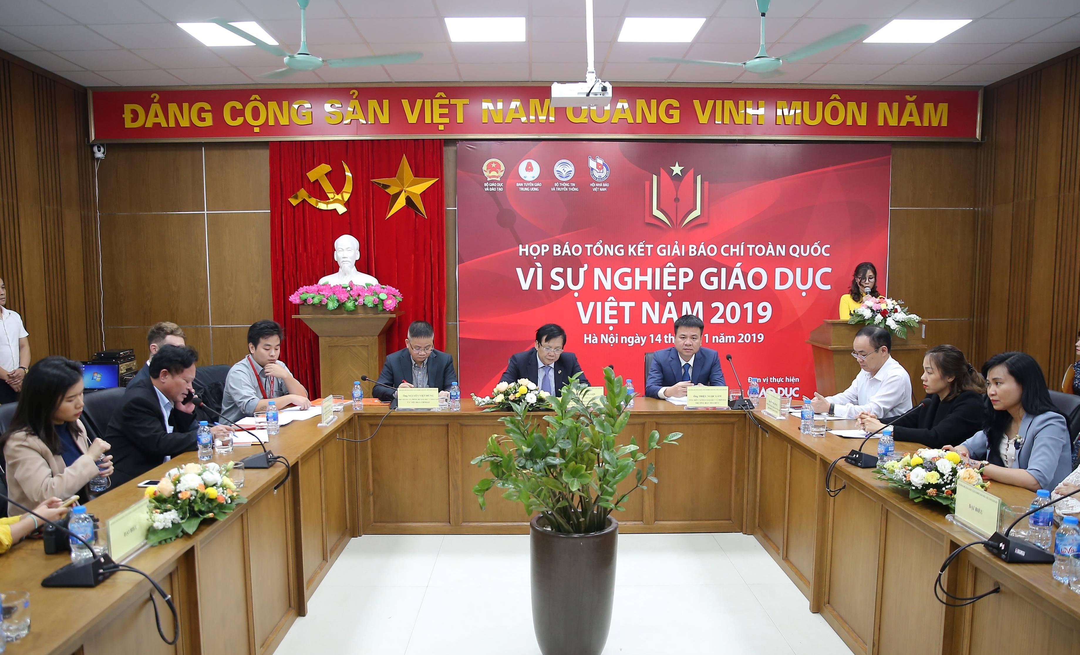 44 tác phẩm đoạt Giải báo chí toàn quốc 'Vì sự nghiệp Giáo dục Việt Nam' năm 2019