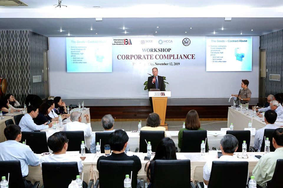 Viện Khoa học Pháp lý và kinh doanh quốc tế IBLA và Tổng lãnh sự quán Hoa Kỳ tại TPHCM đã tổ chức thành công buổi hội thảo về CORPORATE COMPLIANCE