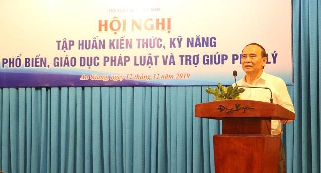 Hội Luật gia Việt Nam tổ chức tập huấn kiến thức, kỹ năng phổ biến, giáo dục pháp luật và trợ giúp pháp lý