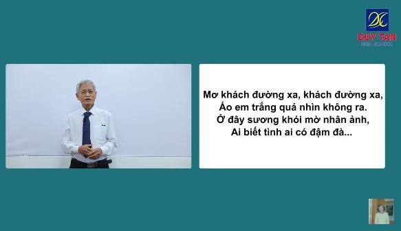 Thầy Nguyễn Đình Đại hướng dẫn bình luận văn học qua hai bài thơ nổi tiếng của Nhà thơ Hàn Mặc Tử trong chương trình sách giáo khoa: ĐÂY THÔN VỸ DẠ và MÙA XUÂN CHÍN