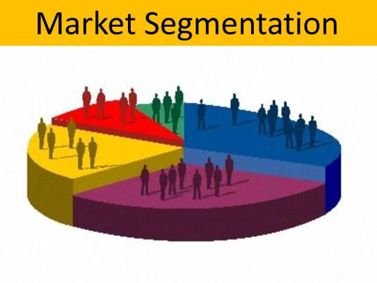 Phân khúc thị trường trong việc lên chiến lược marketing.